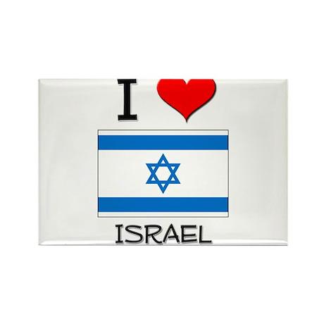 I Love Israel Rectangle Magnet (10 pack)