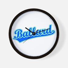 Retro Ballard (Blue) Wall Clock