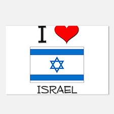 I Love Israel Postcards (Package of 8)