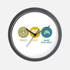Peace Love Game Development Wall Clock