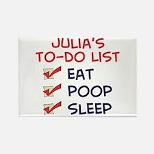 Julia's To-Do List Rectangle Magnet