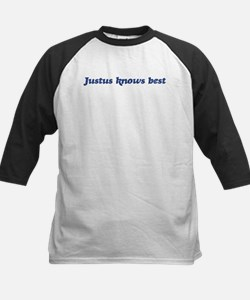 Justus knows best Kids Baseball Jersey