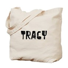Tracy Faded (Black) Tote Bag