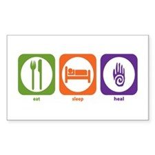 Eat Sleep Heal Rectangle Decal