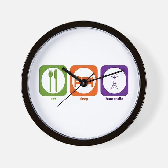 Eat Sleep Ham Radio Wall Clock