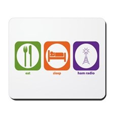 Eat Sleep Ham Radio Mousepad