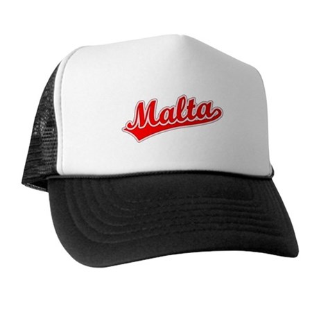 Retro Malta (Red) Trucker Hat