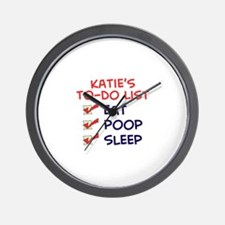 Katie's To-Do List Wall Clock