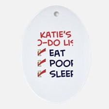 Katie's To-Do List Oval Ornament