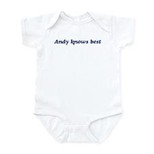 Andy knows best Infant Bodysuit