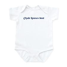 Clyde knows best Infant Bodysuit