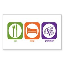 Eat Sleep Grammar Rectangle Decal