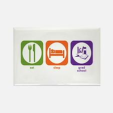 Eat Sleep Grad School Rectangle Magnet