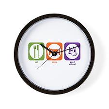 Eat Sleep Grad School Wall Clock