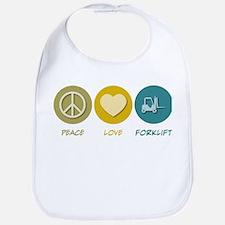 Peace Love Forklift Bib