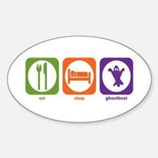 Eat Sleep Ghostbust Oval Decal