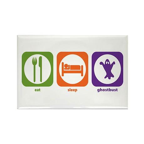 Eat Sleep Ghostbust Rectangle Magnet (100 pack)