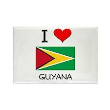 I Love Guyana Rectangle Magnet