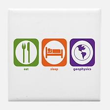 Eat Sleep Geophysics Tile Coaster