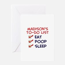 Madison's To-Do List Greeting Card