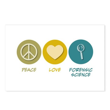 Peace Love Forensic Science Postcards (Package of