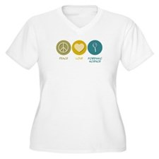 Peace Love Forensic Science T-Shirt