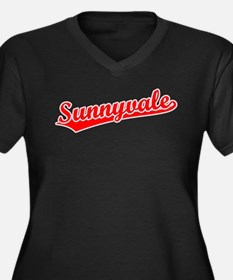 Retro Sunnyvale (Red) Women's Plus Size V-Neck Dar