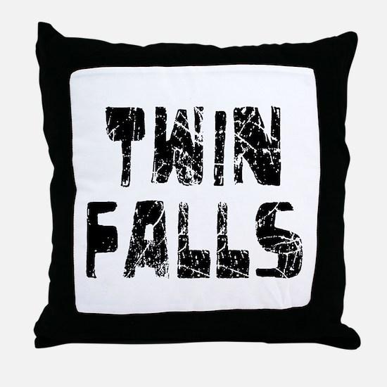 Twin Falls Faded (Black) Throw Pillow