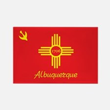 ALBUQUERQUE-FLAG Rectangle Magnet (10 pack)