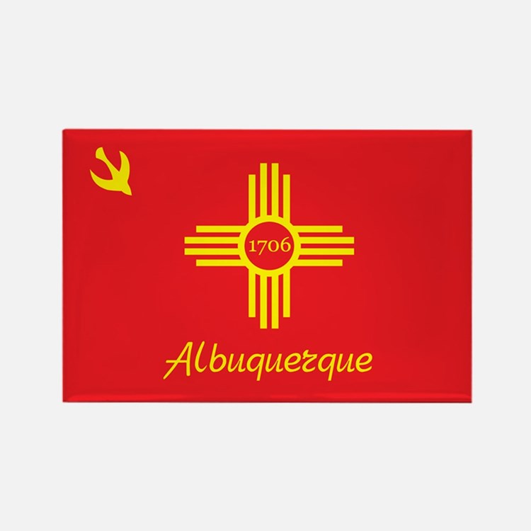 ALBUQUERQUE-FLAG Rectangle Magnet (100 pack)