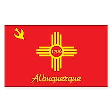 ALBUQUERQUE-FLAG Rectangle Decal