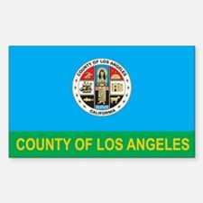 LOS-ANGELES-COUNTY-FLAG Rectangle Decal