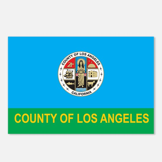 LOS-ANGELES-COUNTY-FLAG Postcards (Package of 8)