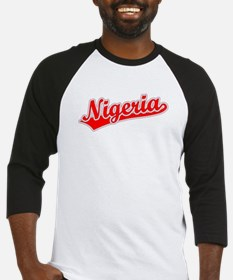 Retro Nigeria (Red) Baseball Jersey