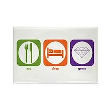 Eat Sleep Gems Rectangle Magnet