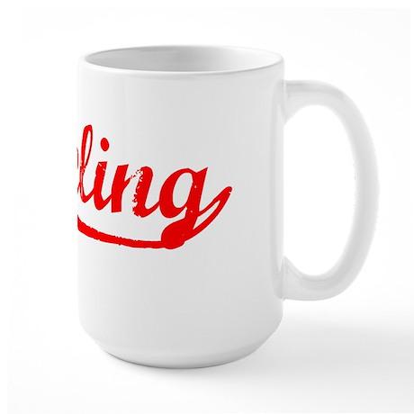 Vintage Wheeling (Red) Large Mug