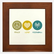 Peace Love Foosball Framed Tile