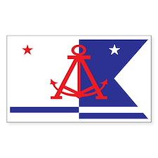 ALAMEDA-FLAG Rectangle Decal