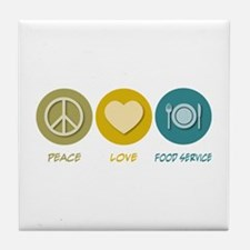 Peace Love Food Service Tile Coaster
