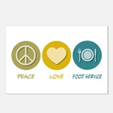 Peace Love Food Service Postcards (Package of 8)