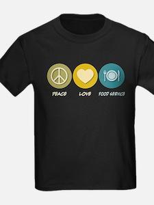 Peace Love Food Service T