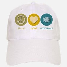 Peace Love Food Service Baseball Baseball Cap