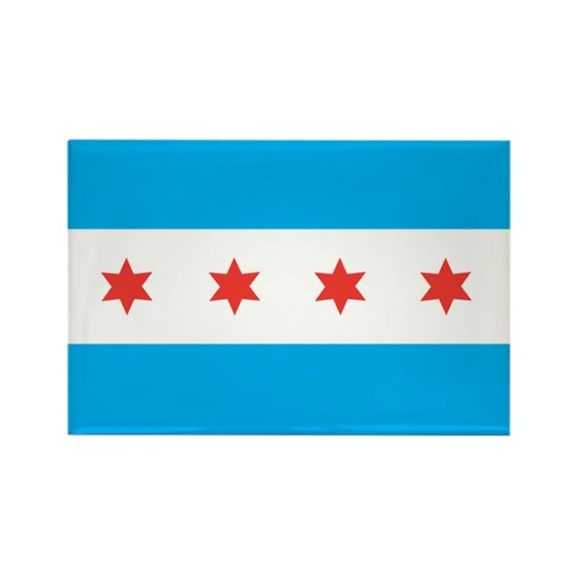 CHICAGO-FLAG Rectangle Magnet by stickdeez2