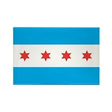 CHICAGO-FLAG Rectangle Magnet (100 pack)