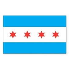 CHICAGO-FLAG Rectangle Decal