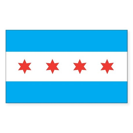 CHICAGO-FLAG Rectangle Sticker