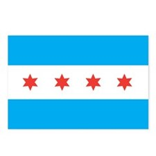 CHICAGO-FLAG Postcards (Package of 8)