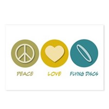Peace Love Flying Discs Postcards (Package of 8)