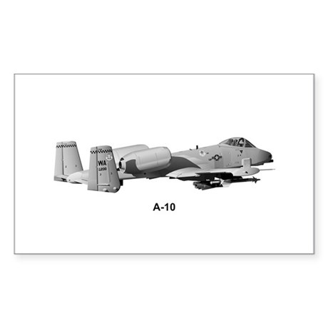 A-10 Thunderbolt II Rectangle Sticker