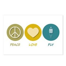 Peace Love Fly Postcards (Package of 8)